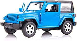 BDTCTK 1/36 Scale SUV Wrangler Car Model Toy Zinc Alloy Die-Cast Pull Back Vehicles Kid Toys for 2 3 4 Year Old Boy Girl Gift(Blue)