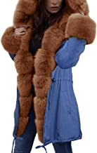 Shusuen Women Thicken Warm Winter Coat Hood Parka Overcoat Long Jacket Outwear