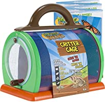 """Nature Bound Toys Critter Cage Bug Catcher and Habitat Kit, Insect Netting, and Activity Booklet, Green, for Kids, 8.5""""..."""