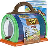 Nature Bound Toys Critter Cage Bug Catcher and Habitat Kit, Insect Netting, and Activity Booklet, Green, for Kids, 8.5' x 5.75' x 8'