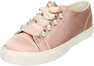 Spot On Womens/Ladies Ribbon Lace Up Pumps