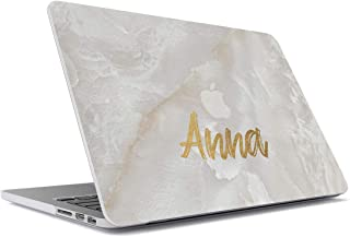Personalizado Custom Surname Name Number Gold Letter Text Customized White Pearl Marble Stone Blanca Marmol Citar Funda de...