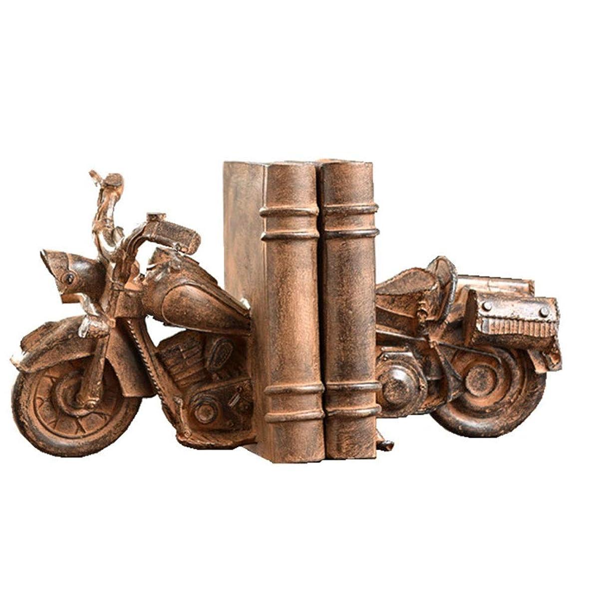 トムオードリース暴動債権者ブックエンド 本作品CDビデオ用1ペアレトロオートバイのインテリアアートブックエンドの彫像 棚のブックエンド (色 : Motorcycle, Size : 14.5x20x19.5cm)