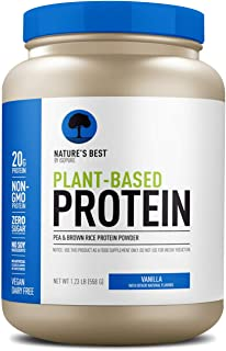 Nature's Best Plant Based Vegan Protein Powder by Isopure - Organic Keto Friendly, Low Carb, Gluten Free, 20g Protein, 0g Sugar, Vanilla 1.23 Pound (20 Servings)