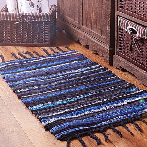 FHG Giappone e Corea del Sud cotone e lino moderno minimalista soggiorno  camera da letto tappeto cucina strisce tessuti a mano tappetini IKEA ...