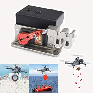 RCGEEK Clip Payload Delivery Airdrop Drone Drop Transport Double Release Thrower Device for Fishing Bait Released,Carrying Wedding Activities Gift,Search & Rescue Compatible with DJI Mavic 2 PRO/Zoom