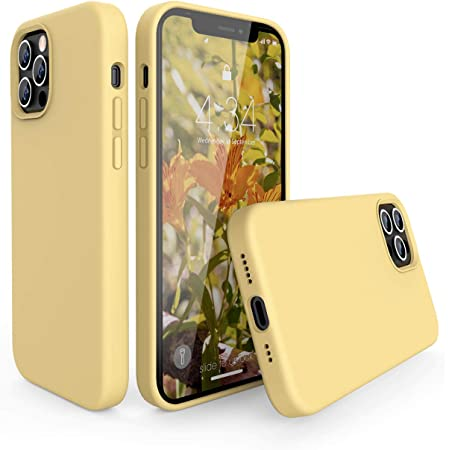 abitku Custodia in Silicone per iPhone 12/iPhone 12 PRO(6,1 Pollici), Cover Sottile in Silicone Liquido in Gomma Gel Morbida per iPhone 12 PRO/iPhone ...