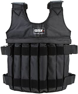Weighted Vest, 20KG/44LB Adjustable Strength Training Vest Running Exercise Boxing Fitness Weightloading Sand Clothing (We...