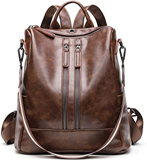 Convertible Backpack Purse Lightweight Handbag Waterproof Leather Shoulder Bag for Women