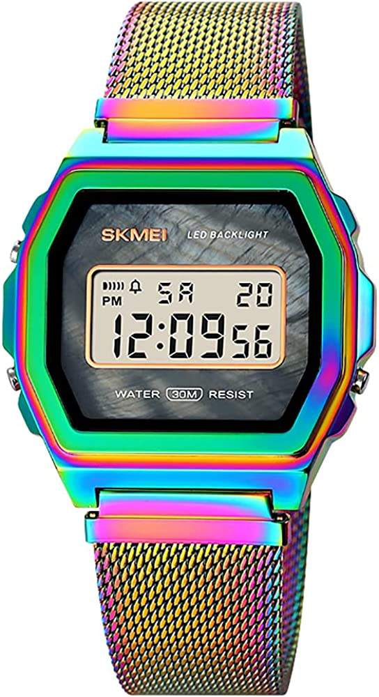 GOSASA Digital Watch for Men and Outdoor Steel Womens Stainless Max 57% OFF Max 74% OFF