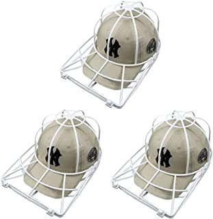Ball Cap Washer for Washing Machine,3 Pack Cap Washer for Dishwasher,Baseball Cap Washer,Hat Washing Cage,Hat Cleaner for Washing Machine,Cap Washing Cage Rack Frame for Flat or Curved Bill Ball Caps