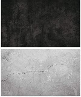Auveach Photography Background Paper Double Sided Pattern Vintage Wood Marble Cement Wall Texture Photo Backdrop Paper for...