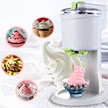 Automatic Ice Cream Machine, DIY Ice Cream Maker, Electric Ice Shaver Snow Cone Maker, Fast, Easy Clean, for Household, Ch...