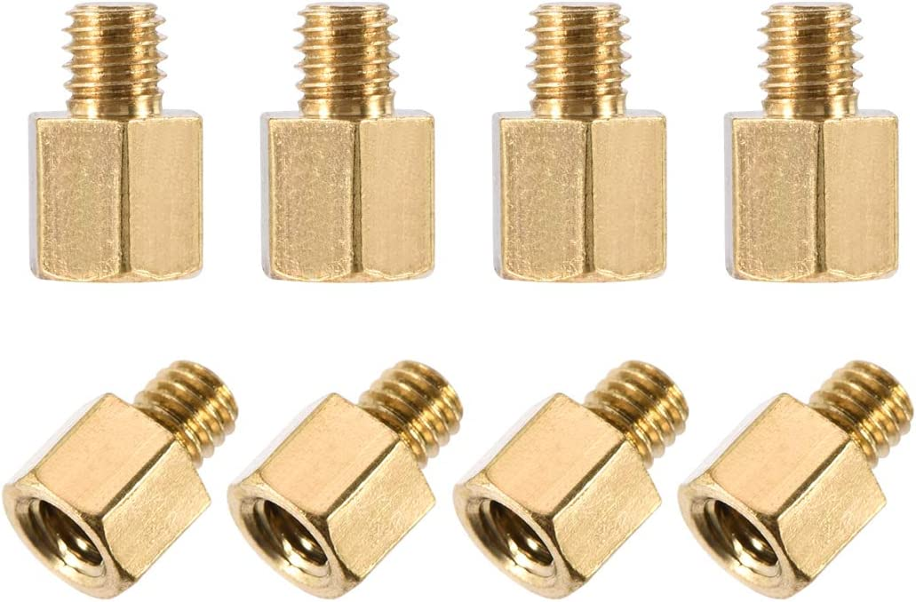 uxcell M3x5mm+3mm Male-Female Brass Hex Spacer Low price Motherboard S Brand new PCB