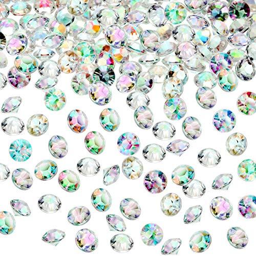 10000 STK Acryl Diamanten, Kristalle Acryl Diamanten Strass Vase Füllstoffe, Hochzeitstisch-Streuung Konfetti-Kristalle für Hochzeit, Valentinstag, DIY Kunst & Handwerk, AB Klar (4,5 mm)