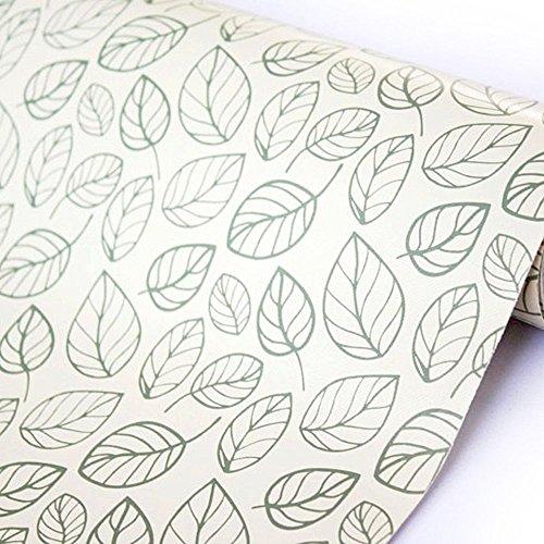 Yifely Leaf Shelving Paper Decorative Self-Adhesive Shelf Liner Dresser Drawer Locker Sticker 177 Inch by 98 Feet