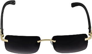 نظارات شمسية بتصميم افياتور من ايليت بتصميم مستطيل معدني خشبي