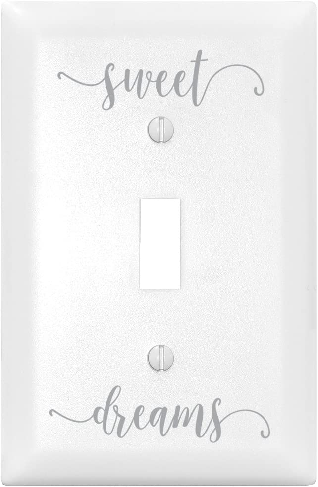 Sweet Dreams Let Your Light Shine Single Light Switch Cover