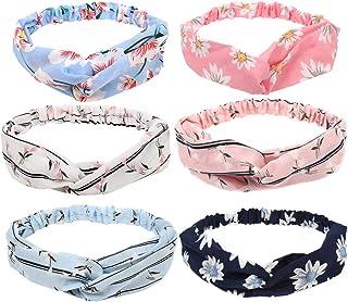 CCINEE 6 Piece Headbands for Women,Flower Colors Women's Face Washing Hair Band Hair Wrap Hair Accessories
