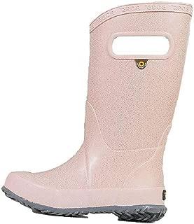 BOGS Kids Rainboots Waterproof Rubber Rain Boots for Boys and Girls, Glitter - Rose Gold, 2 M