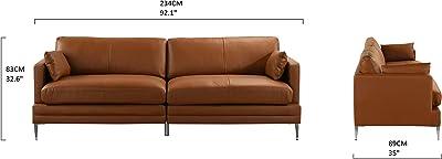 Mueblix Sofa 3 Plazas Genova - Marrón: Amazon.es: Juguetes y ...