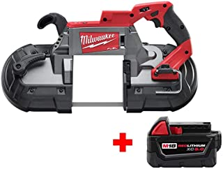 Milwaukee M18 FUEL 18-Volt Lithium-Ion Brushless Cordless Deep Cut Band Saw with Free M18 5.0Ah Battery