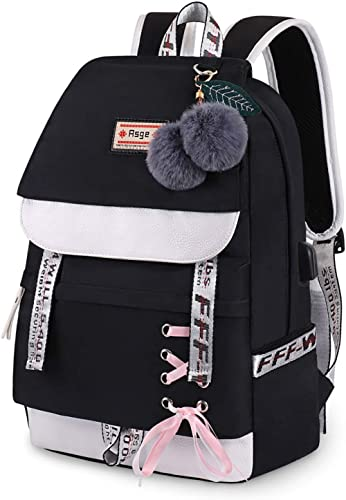 Asge Femme Sac à Dos Unisexe Loisir Backpack Garçons école Sacs Filles Mignon Cartable Nylon Imperméable Daypacks Adu...
