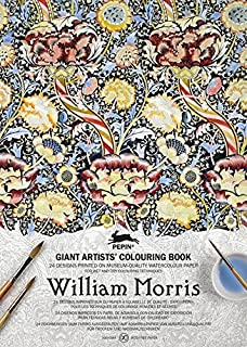 William Morris (Giant Artists' Colouring Books) (English, Spanish, French, Italian and German Edition)