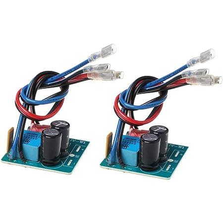 Xuebai 2 Stück 60w 2 Wege Lautsprecher Frequenzweiche Bass Hochtöner Frequenzteiler Für 2 4 Zoll Lautsprecherfilter Lautsprecher Frequenzweiche Küche Haushalt