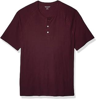 Men's Regular-Fit Short-Sleeve Slub Henley T-Shirt