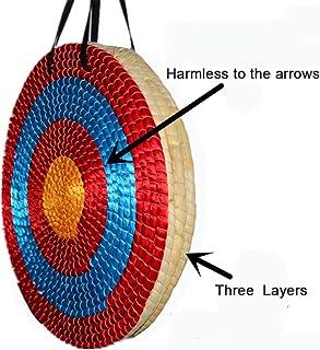 6 cm Stärke Zielscheibe Stroh Bogensport mit Schlaufe 65cm Strohzielscheibe