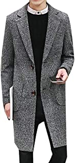 mens long tweed overcoat
