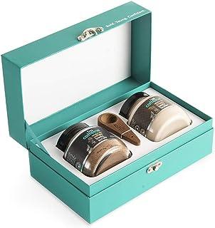 mCaffeine Be Date Ready Body Polishing Gift Kit | Tan Removal, Deep Moisturizing | Body Scrub, Body Butter | Paraben & Min...