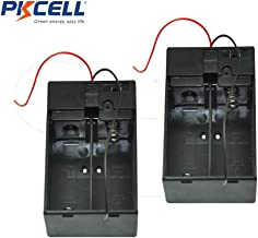 2 Pcs C cell Battery Holder Battery Case with Cover Switch for 2 x 1.5V C Battery