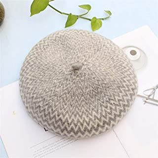 SHENTIANWEI Complex Gubei Lei hat Female Autumn and Winter Korean Version of Japanese Wild Wave Pattern Pumpkin hat Painter hat Bud (Color : Grey, Size : Adjustable)