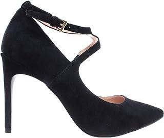 26d8cd17fd5dcb Liu Jo Chaussures Femmes Talon Lola 16 Decollete Kid Suede Black Chamois  Noir