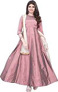 class clothing Women Georgette Long Anarkali Salwar Suit/Gown With Dupatta