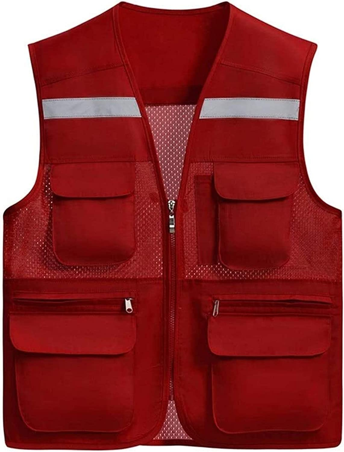 WOAIM Vis Max 82% OFF Vest High Visibility and Waistcoat Light Tr Breathable gift
