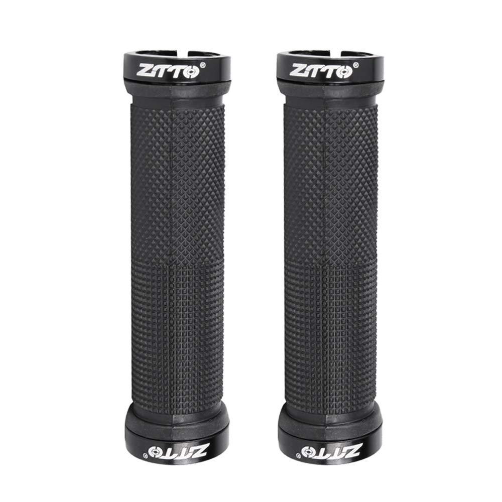 1 Pair ZTTO MTB Handlebar Grip Resin Double Lock Anti-slip Grips For MTB Bike