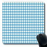 Ahawoso Mousepads Rhomb Blue Octoberfest Oktoberfest Pattern October Fest Argyle Germany Bavarian Geometric Bavaria Oblong Shape 7.9 x 9.5 Inches Non-Slip Gaming Mouse Pad Rubber Oblong Mat