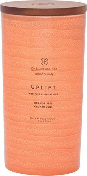 Chesapeake Bay Candle Mind Body Serenity Scented Candle Uplift With Pure Essential Oils Orange Pear Lemon Cedarwood Large