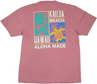 ALOHA MADE アロハメイド メンズ 半袖 Tシャツ (メンズ M.ピンク) 202MA1ST067 フララニ サーフブランド ハワイアン 雑貨 (L)
