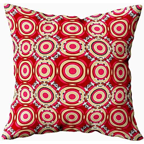 July Argyle, grote zitkussen, moderne stijlvolle textuur, beige roze rode tegels, herhalende geometrische tegels, kussenslopen