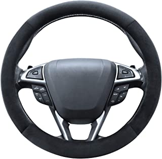 SEG Direct Pink Plush Winter Auto Car Steering Wheel Cover Universal 15 inch