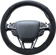 SEG Direct Plush Steering Wheel Cover Universal 15 inch Black