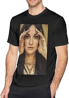 Feytes Mens Kacey-Musgraves Comfortable T-Shirts Cool Tops Black