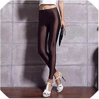 6f7fa04b5 Solid Fluorescent Leggings Women Casual Multicolor Shiny Glossy Leggings  Female Elastic Pant