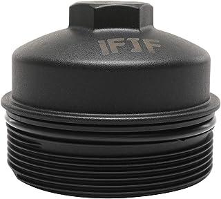 iFJF EC781 Oil Filter Cap Replacement for FL2016 2003-2007 6.0L 2008-2010 6.4L Powerstroke F250 F350 F450 F550 Super Duty 2003-2005 Excursion 1840754C91 3C3Z-6766-CA(cap)