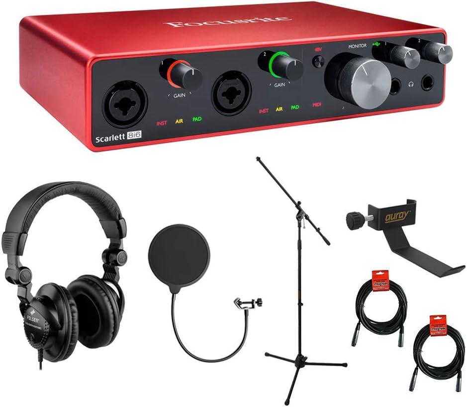 Focusrite Scarlett 8i6 USB Audio HPC-A3 with Gen Interface 3rd Topics on TV Max 74% OFF