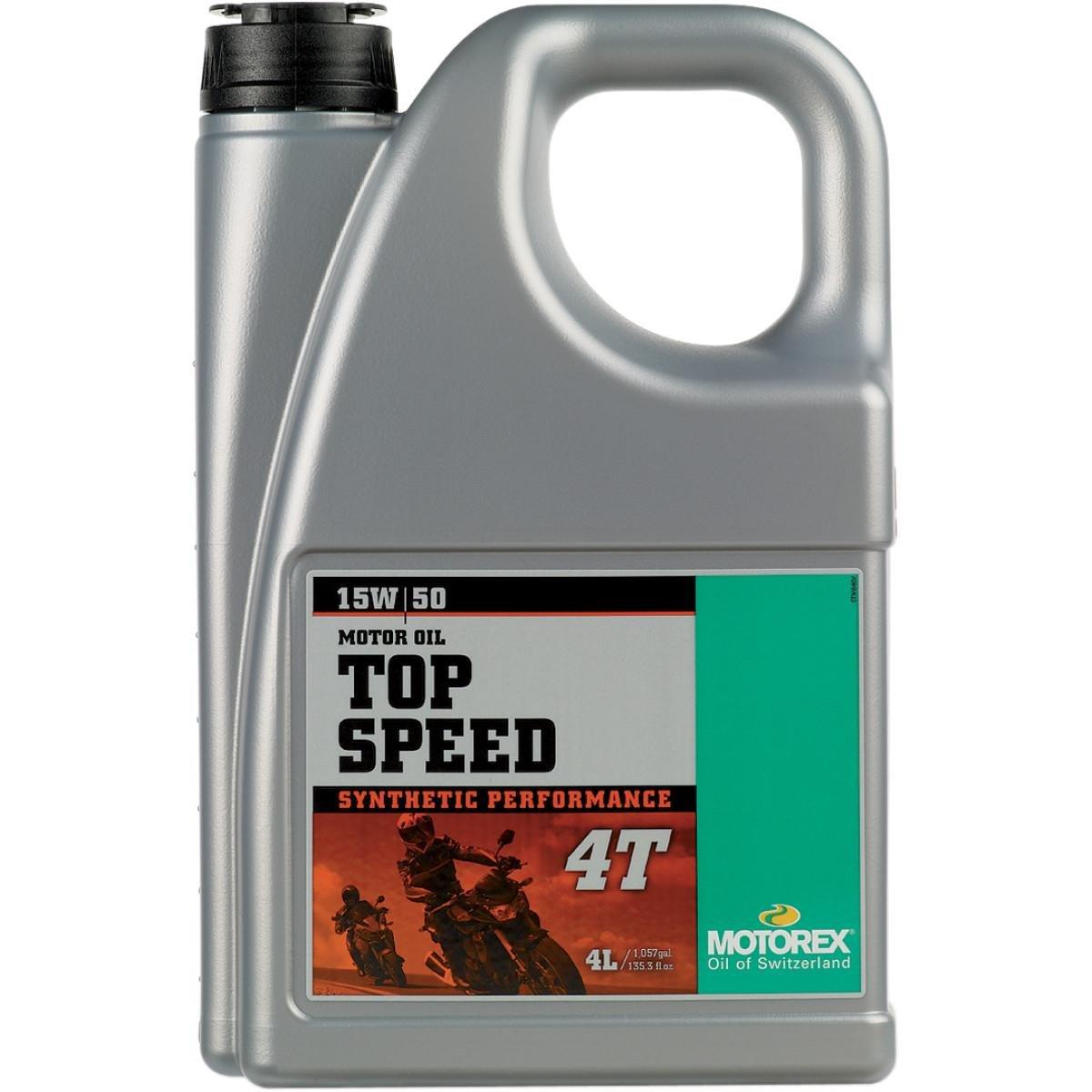 Motorex Top Speed 4T Oil - 15W50 - 4 Liter 171-435-400
